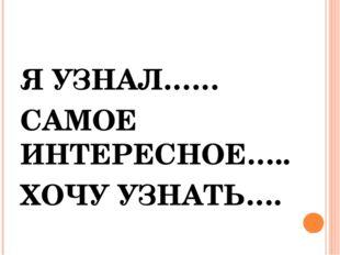 Я УЗНАЛ…… САМОЕ ИНТЕРЕСНОЕ….. ХОЧУ УЗНАТЬ….