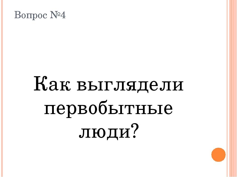Вопрос №4 Как выглядели первобытные люди?