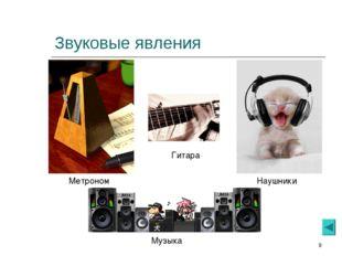 * Звуковые явления Метроном Гитара Наушники Музыка