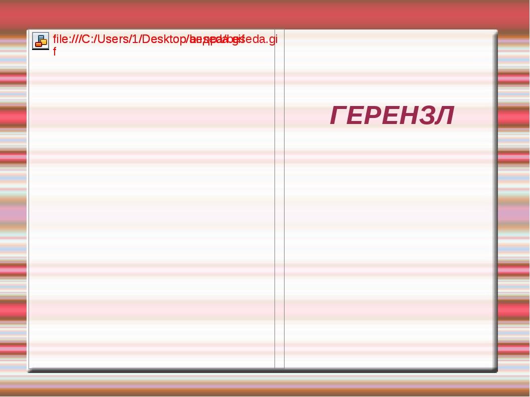 ГЕРЕНЗЛ
