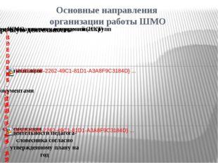 Основные направления организации работы ШМО деятельности педагога- словесника