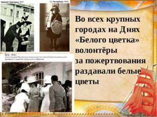 Вовсех крупных городах наДнях «Белого цветка» волонтёры запожертвования ра