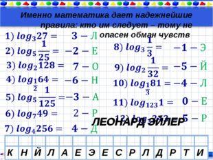 Именно математика дает надежнейшие правила: кто им следует – тому не опасен о