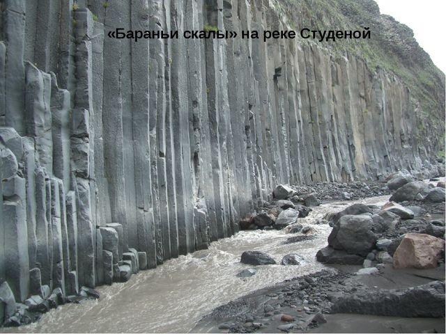 «Бараньи скалы» на реке Студеной