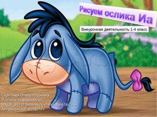 Внеурочная деятельность 1-4 класс Скрипнюк Ольга Юрьевна Учитель информатики
