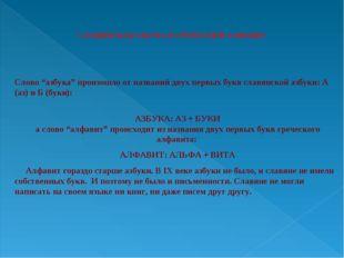 """Слово """"азбука"""" произошло от названий двух первых букв славянской азбуки"""