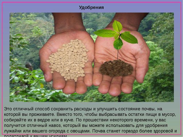 Удобрения Это отличный способ сохранить расходы и улучшить состояние почвы,...