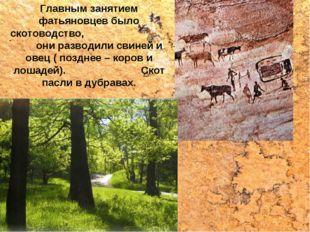 Главным занятием фатьяновцев было скотоводство, они разводили свиней и овец (