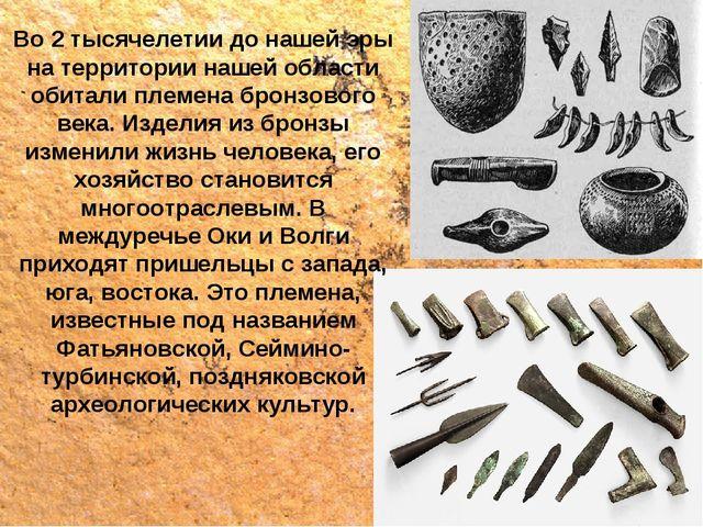 Во 2 тысячелетии до нашей эры на территории нашей области обитали племена бро...