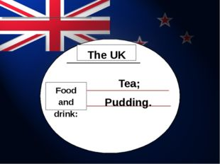 Food and drink: The UK Tea; Pudding.