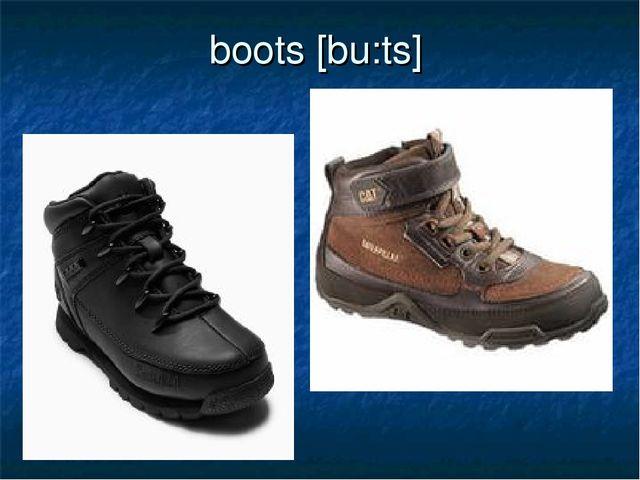 boots [bu:ts]
