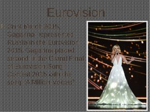 Eurovision On 9 March 2015, Gagarina represented Russiain theEurovision 20