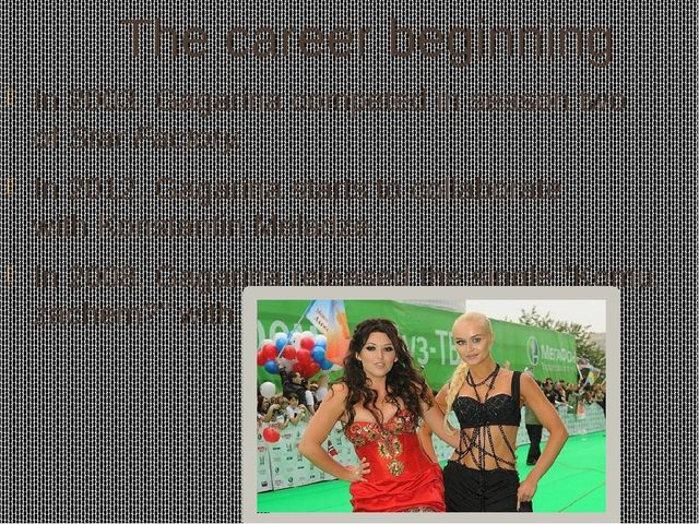 The career beginning In 2003, Gagarina competed in season two ofStar Factory...