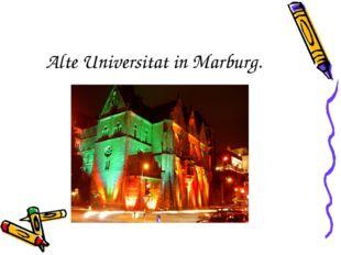 Alte Universitat in Marburg.