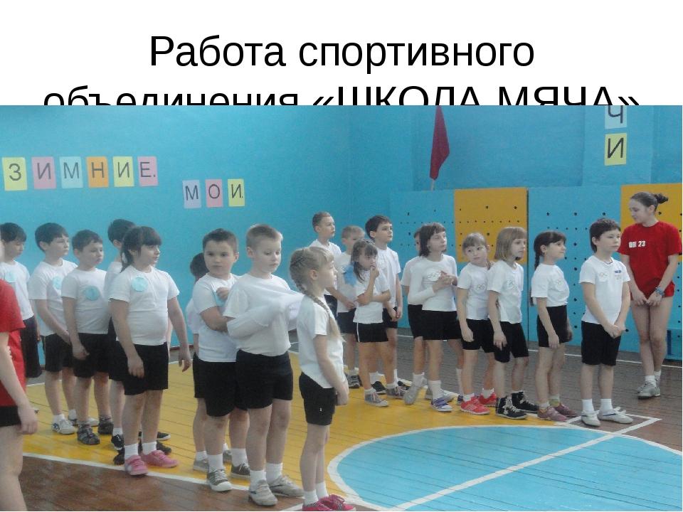 Работа спортивного объединения «ШКОЛА МЯЧА»