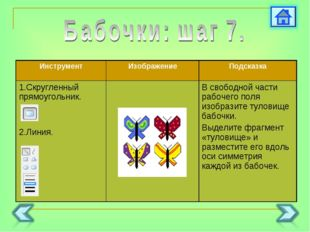 ИнструментИзображениеПодсказка 1.Скругленный прямоугольник. 2.Линия. В св