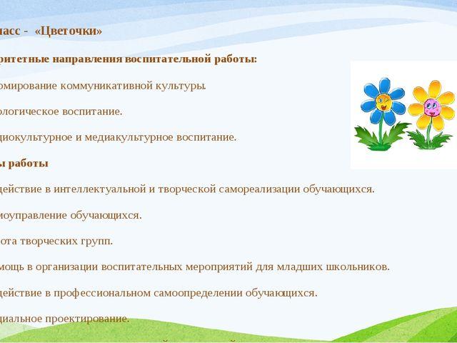 Приоритетные направления воспитательной работы: Формирование коммуникативной...