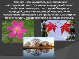 Природа - это удивительный, сложный и многогранный мир. Все живое в природе