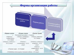 «Первая» группа«Вторая» группа«Третья» группа Постановка цели урока – 2 мин