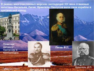 В рамках многочисленных морских экспедиций XIX века отважные капитаны Василье