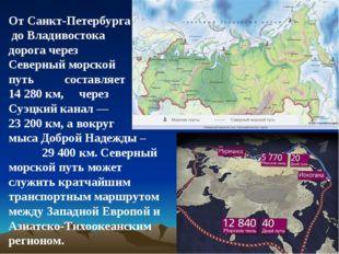 От Санкт-Петербурга до Владивостока дорога через Северный морской путь состав