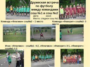 Дружеская встреча по футболу между командами сош №1 и сош №2 Команда «Флагман
