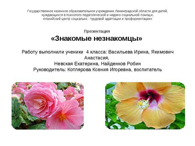 Государственное казенное образовательное учреждение Ленинградской области дл...