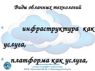 Виды облачных технологий инфраструктура как услуга, платформа как услуга, про