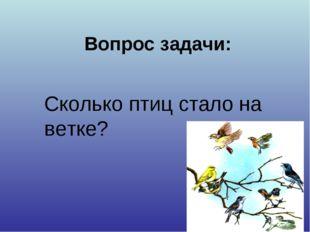 Вопрос задачи: Сколько птиц стало на ветке?