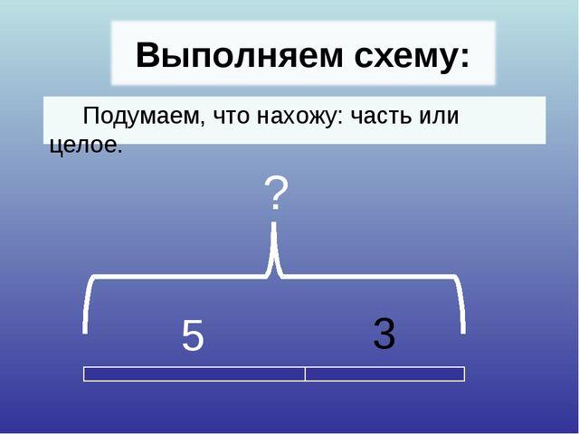 Подумаем, что нахожу: часть или целое. 5 3 ?