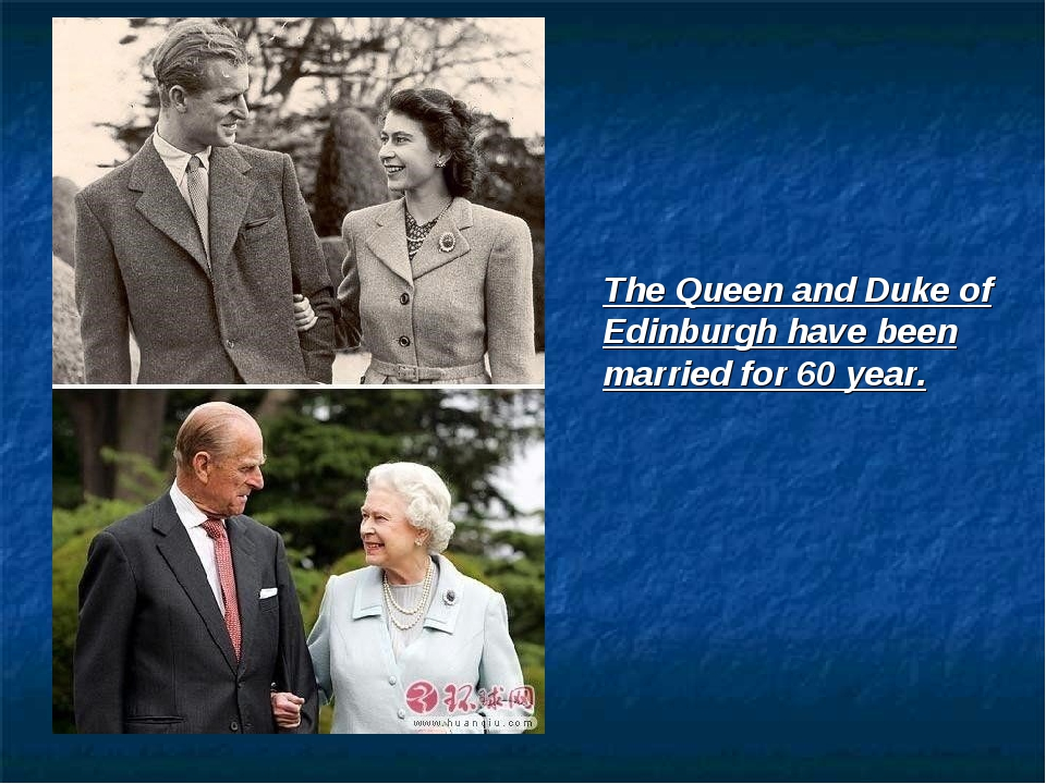 The Queen and Duke of Edinburgh have been married for 60 year.