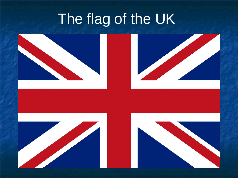 The flag of the UK