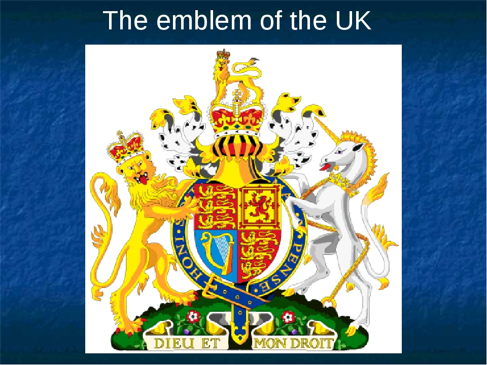 The emblem of the UK