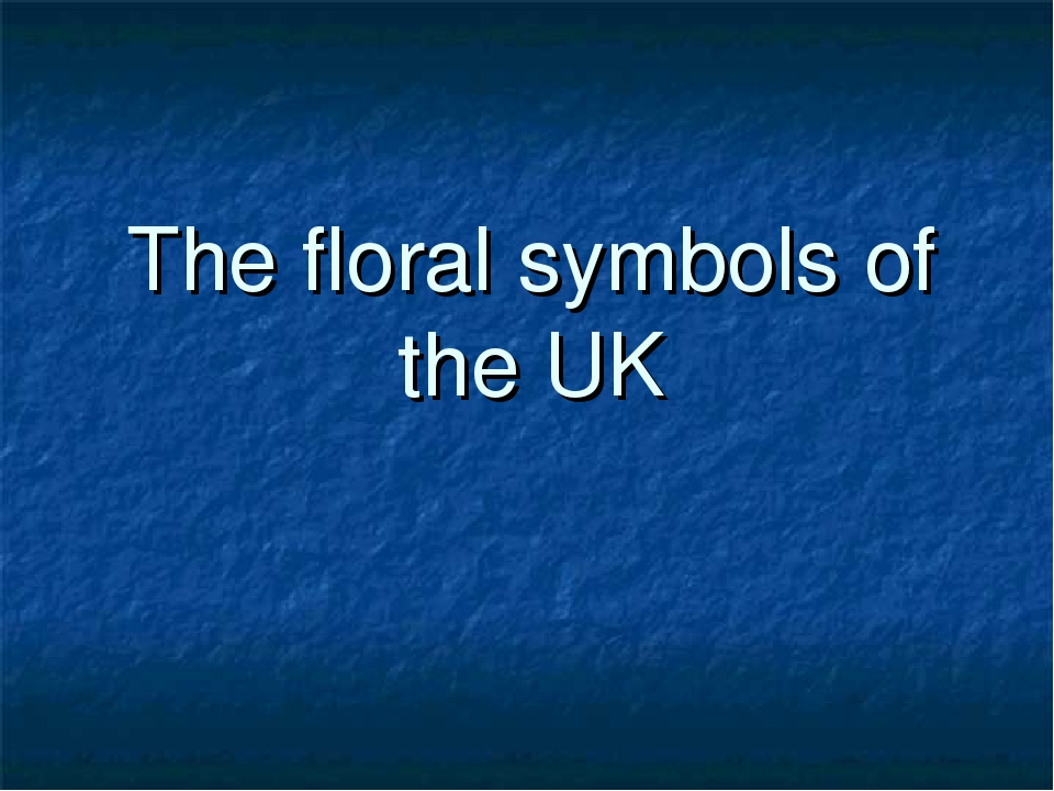 The floral symbols of the UK