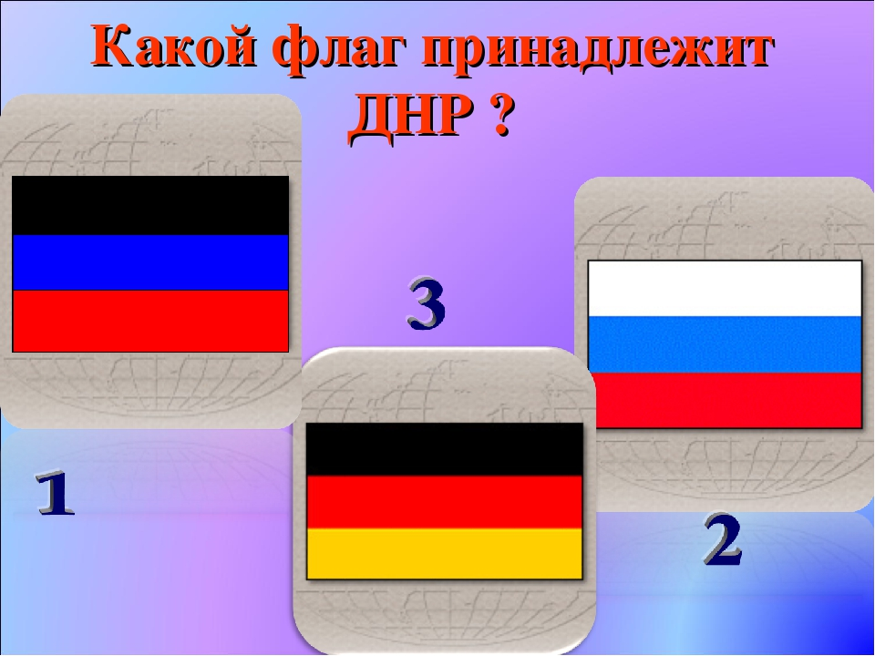 Какой флаг принадлежит ДНР ?