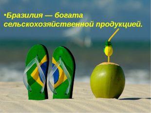 Бразилия— богата сельскохозяйственной продукцией.
