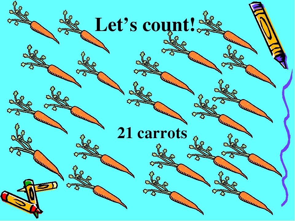 Let's count! 21 carrots