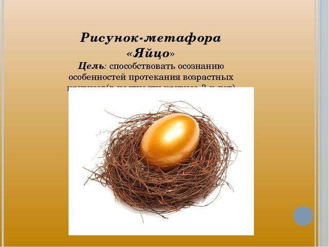 Рисунок-метафора «Яйцо» Цель: способствовать осознанию особенностей протекани...