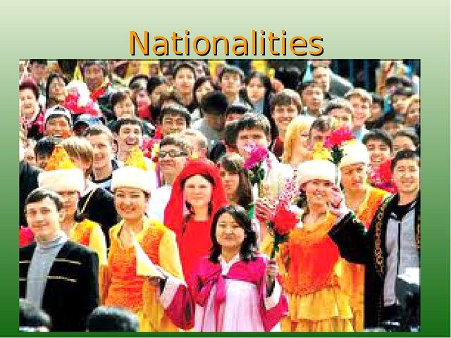 Nationalities