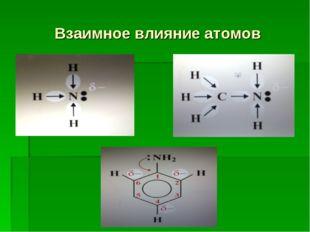 Взаимное влияние атомов