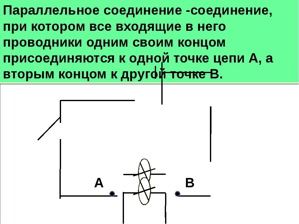 Параллельное соединение -соединение, при котором все входящие в него проводн...
