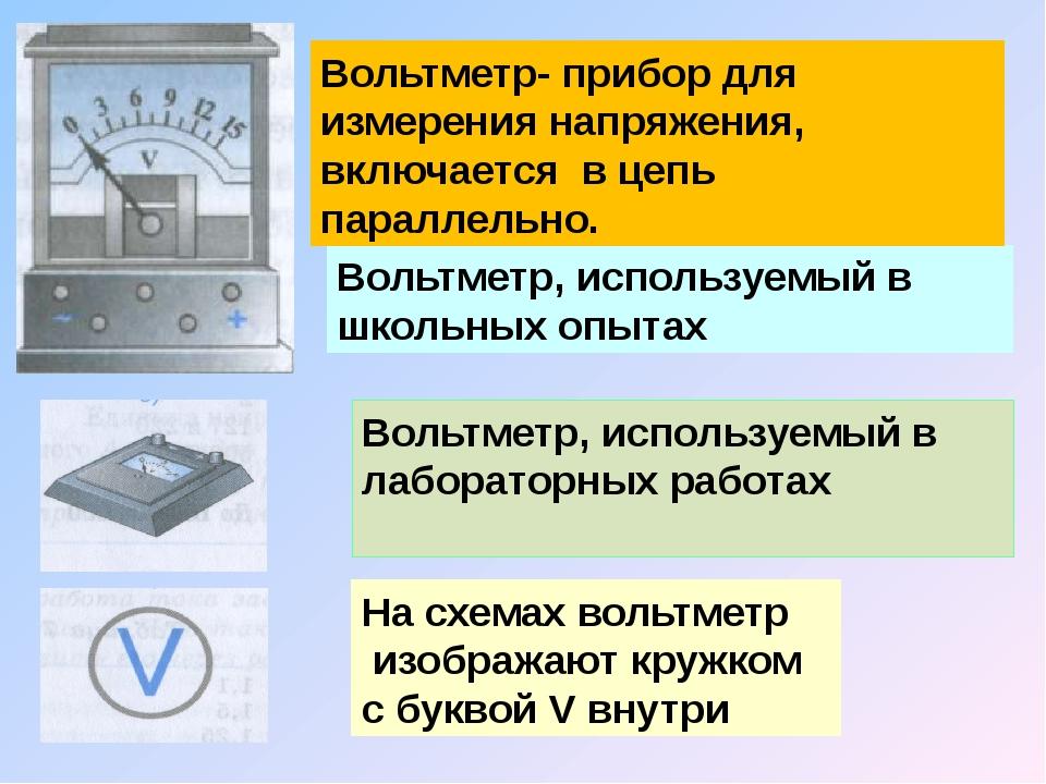Вольтметр, используемый в школьных опытах Вольтметр, используемый в лаборатор...