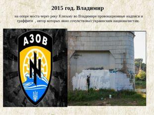 2015 год. Владимир на опоре моста через реку Клязьму во Владимире провокацио