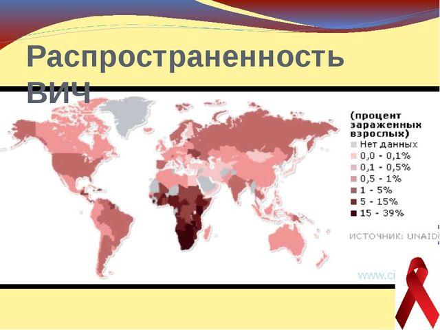 Распространенность ВИЧ