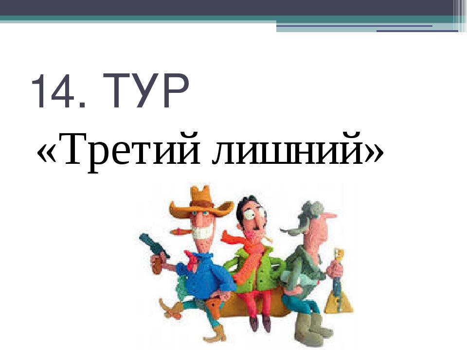 14. ТУР «Третий лишний»