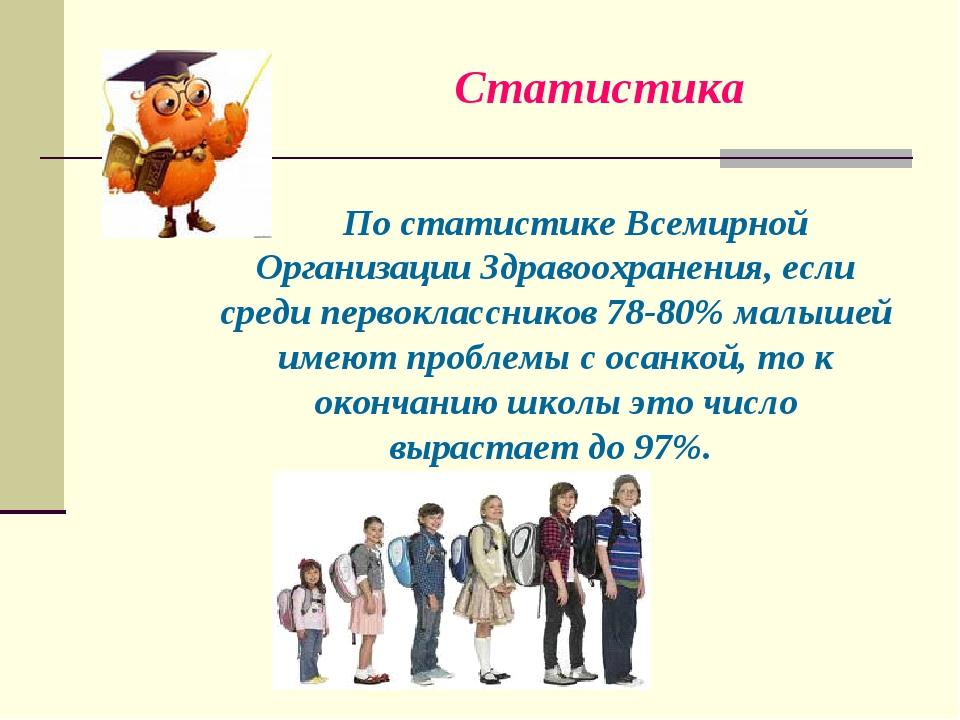По статистике Всемирной Организации Здравоохранения, если среди первоклассник...