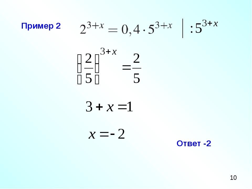 Пример 2 Ответ -2