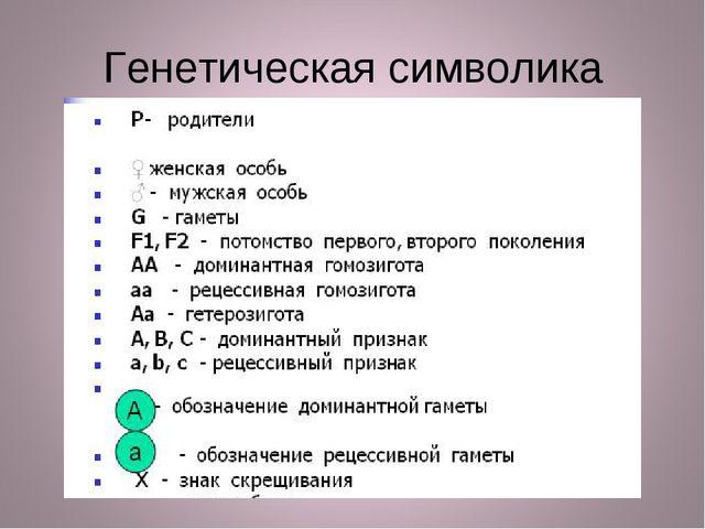 Генетическая символика