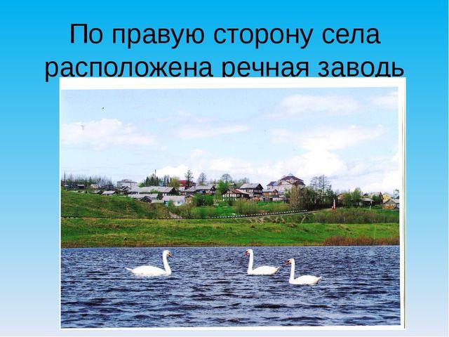 По правую сторону села расположена речная заводь Курья