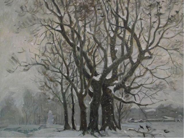«Зимний этюд» 1970 год, холст, масло